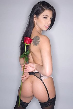Honey Gina Valentina shows off her good honeypot and bootie after a mischievous solo