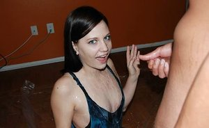 Kinky youthfull Brandi gives a torrid hand job when caught toying with massager
