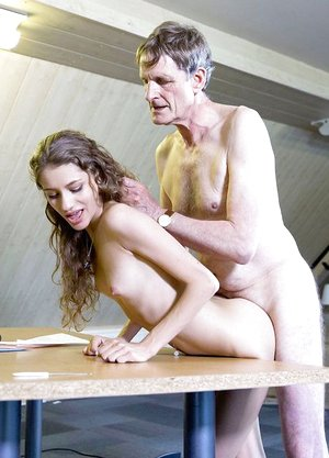 Guiltless young lady quickly learns to put out for her old boss fellow at work