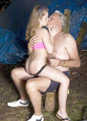 Youthful bitch is smacked by her daddy before they ravage in the woods