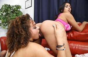 Spectacular lezzie Sixty nine cunt gobbling act with Sophia Leone & Peyton Banks