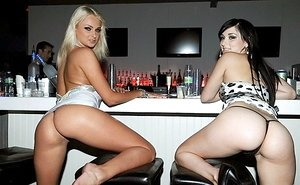 Buzzed girl Ivana smooches gf before she nails a hefty stiffy at bachelorette party