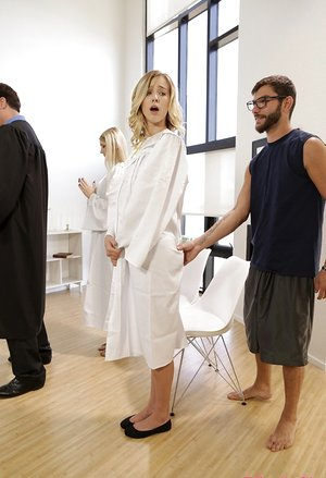 Ash-blonde lady Haley Reed pulverizes her stepbrother in the middle of choir experience