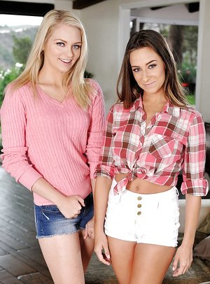 Alli Rae and Cassidy Klein are pretty torrid and slender models!