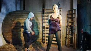 Tall lady Nikki Desire is ball-gagged and limited for a downright clothed cropping